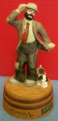 "Vintage Flambro Emmett Kelly Jr Musical Dog You've Got A Friend 7"" Tall Malaysia"