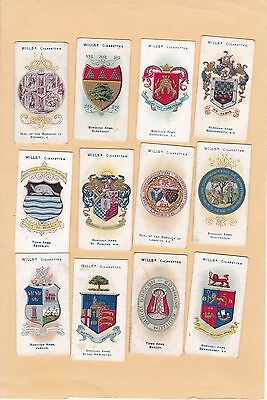 Wills.part Set 43/50 Cards Borough Arms.fouth Series. Cat £30.10.  Issued 1905.