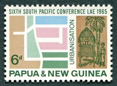 PAPUA NEW GUINEA 1965 6d SG77 mint MNH FG South Pacific Conference Lae #W9
