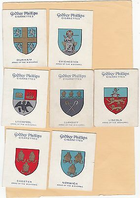 Godfrey Phillips Part Set L13/25. Arms Of The English Sees .cat £57.20. Isd.1924