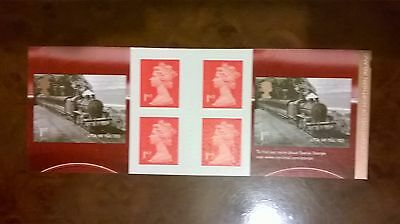2013 6 first class stamps booklet classic loco's of northern Ireland mint