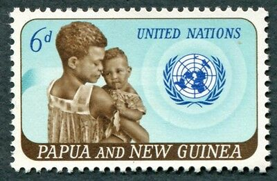 PAPUA NEW GUINEA 1965 6d SG79 mint MNH FG United Nations Anniversary #W9