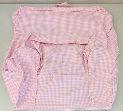 NEW Pottery Barn Kids Light Pink Gingham ANYWHERE CHAIR Cover ~ MY FIRST SIZE