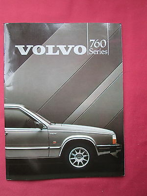 Volvo 760 Series glossy brochure 1984 with fold out pictures