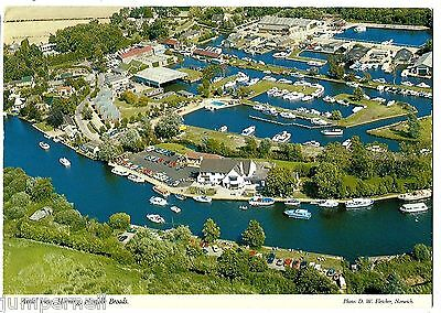 HORNING, Norfolk Broads - aerial view by Don's Supplies - 1986
