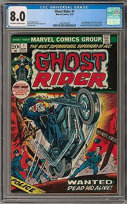 Ghost Rider #1 CGC 8.0 (OW-W) 1st Son of Satan (Cameo)