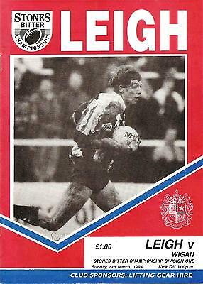 Leigh v Wigan - Division 1 - 1993/94