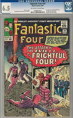 Fantastic Four #36 CGC 6.5 (OW-W) 1st Appearance of Medusa