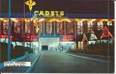 Butlins Holiday Camp Pwllheli The Arcade By Night Ct1304 Pc