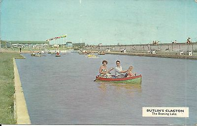 Butlins Clacton On Sea The Boating Lake C.19. Pc