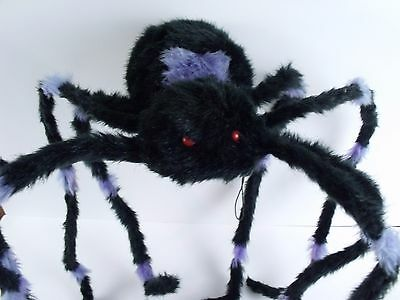 """Fun World Giant 30"""" Hairy Hanging Spider Posable Halloween Parties Decoration"""