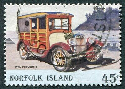 NORFOLK ISLAND 1995 45c multicoloured SG583 used NG Vintage Motor Vehicles #W6