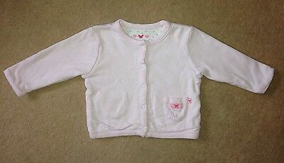 Mothercare Baby Girls Reversible Pink Spotted Jacket - 3-6 Months - MINT
