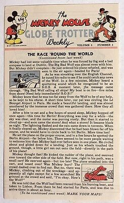 S567 Walt Disney Enterprises MICKEY MOUSE GLOBE TROTTER Weekly Vol. 3, #3 1937 [