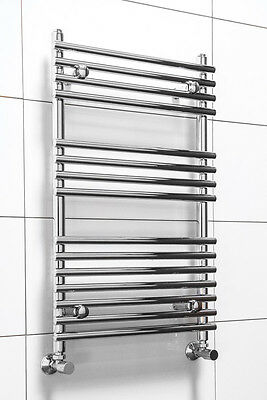 Contemporary Heated Towel Rail Bathroom Radiator 800 x 500mm Chrome