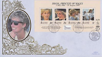 Cayman Isl Stamps First Day Cover 1998 Princess Diana Benham Ltd Edn Collection