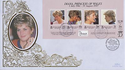 Virgin Isle Stamps First Day Cover 1998 Princess Diana Benham Ltd Edn Collection