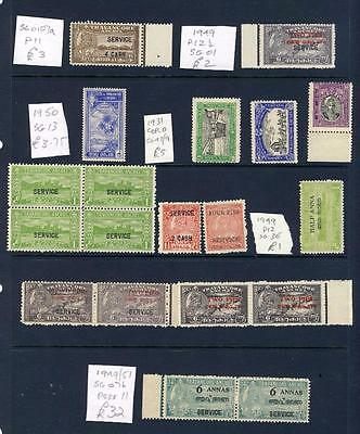 INDIA-TRAVANCORE-NICE COLLECTION ALL UNMOUNTED MINT-SOME BETTER-MNH-CAT c£56