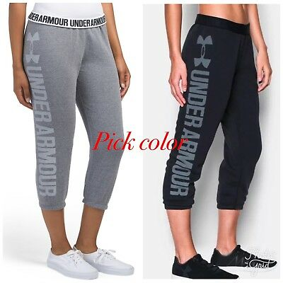 NWT Under Armour UA Women's Favorite Fleece Capris Black XS S M L XL