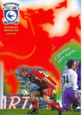 CARDIFF CITY v WREXHAM Division two 22 March 2002