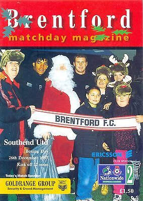 BRENTFORD v SOUTHEND UNITED Division two 26 December 1997