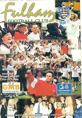 FULHAM v WREXHAM Division two 9 august 1997