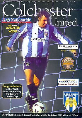 COLCHESTER UNITED v WREXHAM Division two 1 October 1999