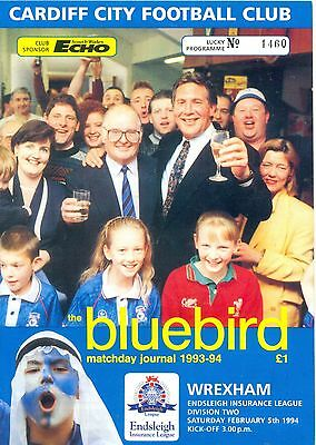 CARDIFF CITY v WREXHAM Division two 5 February 1994