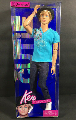 Nib 2009 Barbie Doll Fastionistas Ken Cutie Jointed