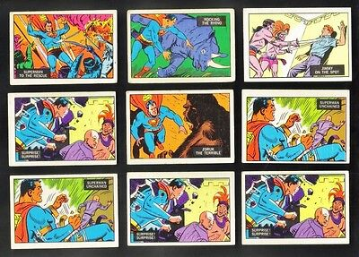 1968 A & BC Superman In The Jungle Lot of 9 VG-EX/EX