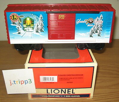 Lionel 8-87033 2010 Holiday Christmas Boxcar G Scale Gauge 4 Battery Train Sets