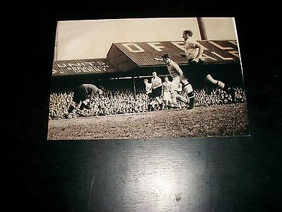 """DERBY COUNTY Baseball ground MATCH ACTION 1950s ? (B)   6""""x4""""  REPRINT POST FREE"""