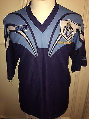 """York City Knights Rugby League No7 Jersey 42"""" Chest Large Shirt Top"""