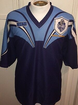 """York City Knights Rugby League No10 Jersey 48"""" Chest XL Shirt Top"""