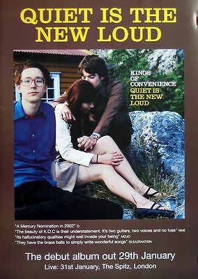 KINGS OF CONVENIENCE Quiet Is The New Loud original UK POSTER ultra-rare new !!