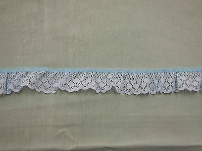 Gathered Blue  Lace  19 metres  (170)