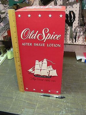 1970 Old Spice Large Advertising DISPLAY Box