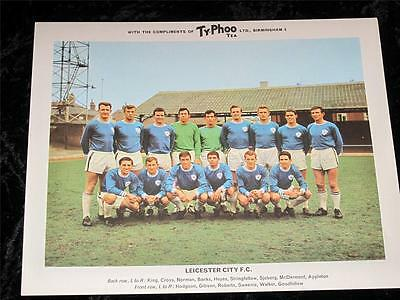"Ty-Phoo Tea Card ""Football Clubs"" 2nd Series Leicester City 1965 Excellent"