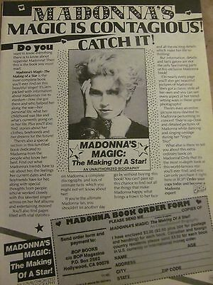 Madonna, Ricky Schroder, Double Full Page Vintage Clipping