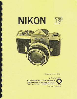 Nikon F Illustrated Service & Repair Manual: NatCam (1975)