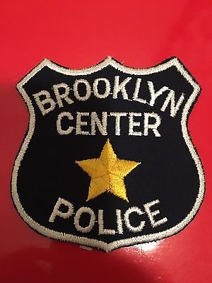 Brooklyn Center  Minnesota Police  Shoulder Patch  Old Used