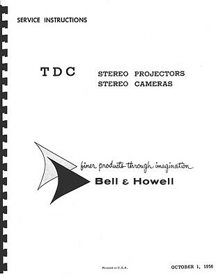 TDC Stereo Projectors & Stereo Cameras Service & Repair Manual