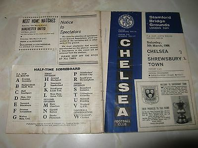 Football FA Cup Programme Chelsea v Shrewsbury 1966 Signed Programme
