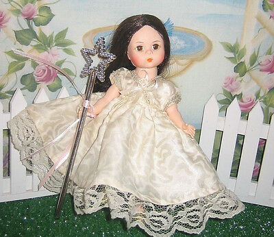 "Sweet dress for Muffie doll fits 8"" Ginny or Madam Alexander HALO Star"