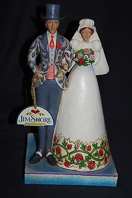 "2006 Jim Shore Heartwood Creek Bride & Groom Couple ""I DO"" #4007234 NO BOX"