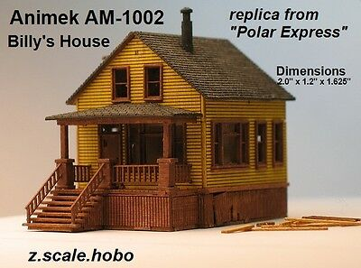 Animek Z Scale 2-Level House Farm House Polar Express Billy's *NEW $0 Ship