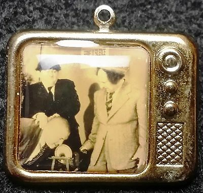Vintage The Three Stooges TV Television Show Collectible Pendant - Beautiful