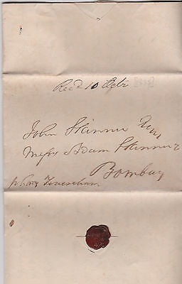 1835 London Letter By R Small To Bombay India Carried On The Ship Lady Feversham