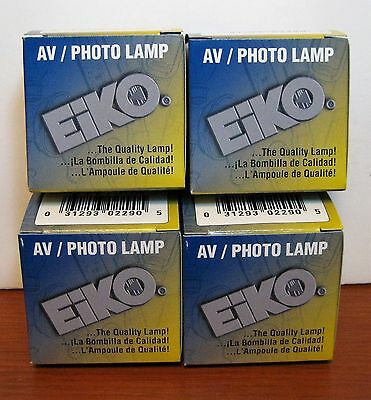 Four Eiko 150 Watt AV Photo Lamp Bulbs EJV 21V150W New