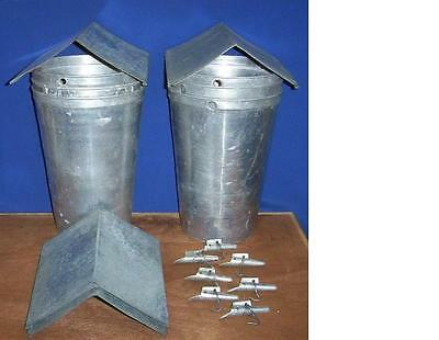 12 MAPLE SYRUP Aluminum Sap Buckets + Lids PEAKED COVERS + TAPS Spiles Spouts